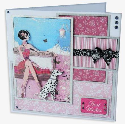 Набор бумаги дизайнерской для скрапбукинга розовый орнамент Parkstone Pink - магазин АртДекупаж
