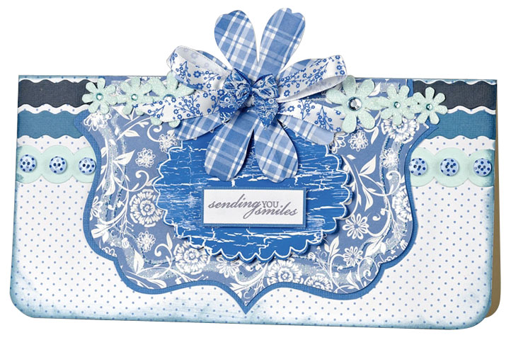 Набор бантиков синих и голубых, коллекция Burleigh Blue