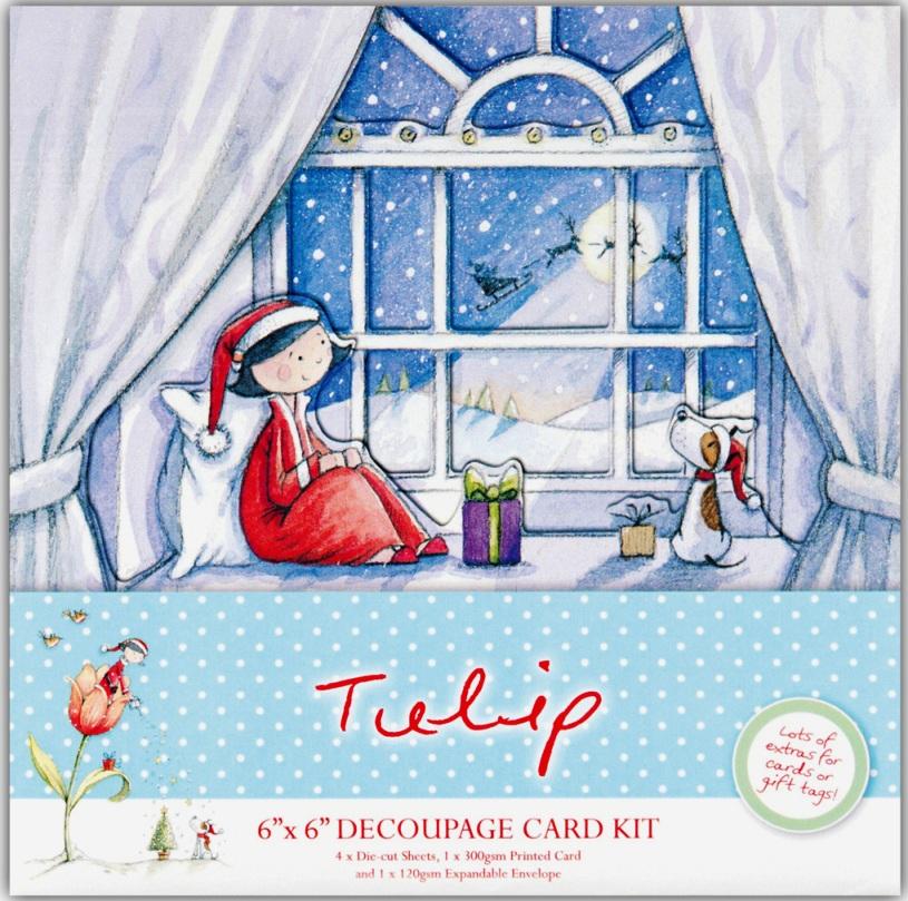 Набор для новогодней открытки Подарок на Рождество TULIP DoCrafts, купить