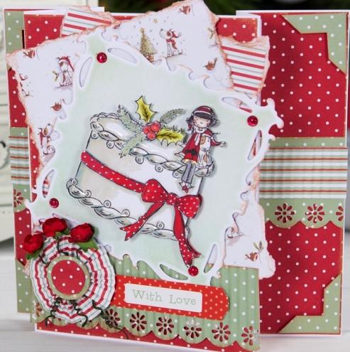 Штампы новогодние для скрапбукинга, Рождественский торт, Tulip Christmas, купить