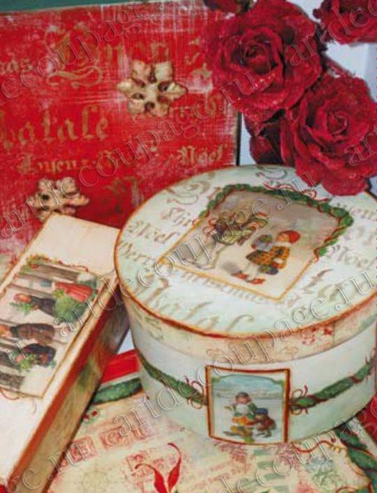 Салфетки для декупажа новогодние, рождественские, купить - магазин АртДекупаж, Москва