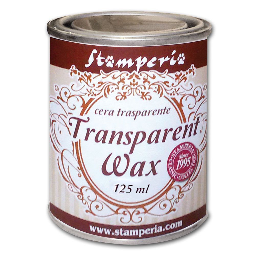 Воск полироль нейтральный прозрачный Transparent wax Stamperia