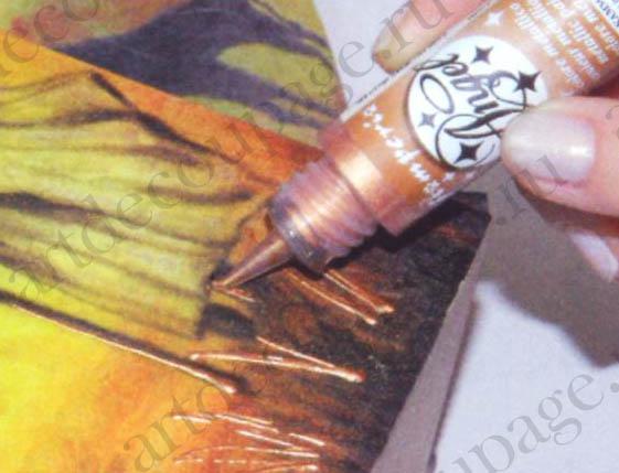 Краски контуры металлик гелевые Angel Stamperia