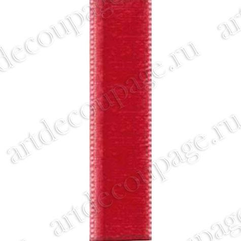 Декоративная бархатная лента красная новогодняя, купить