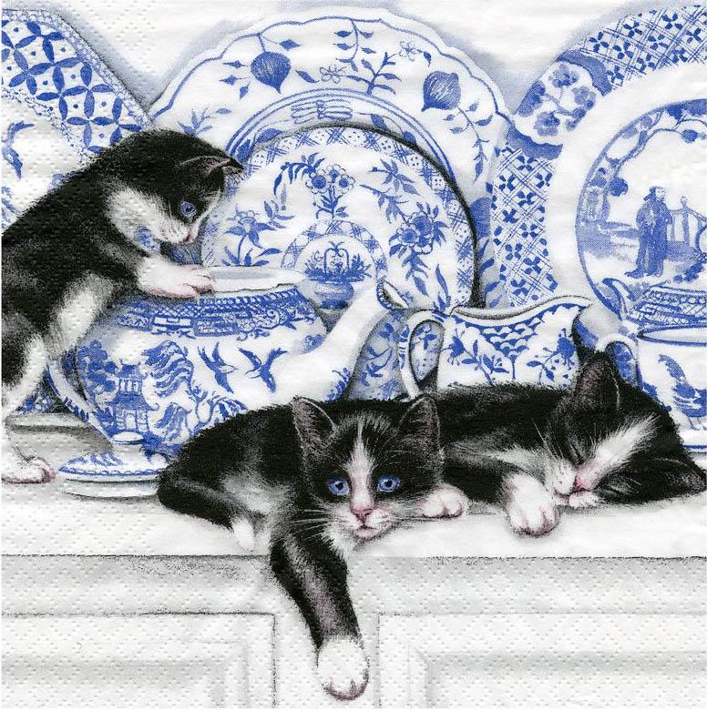 сальная картинки для декупажа котики черно белые статьи