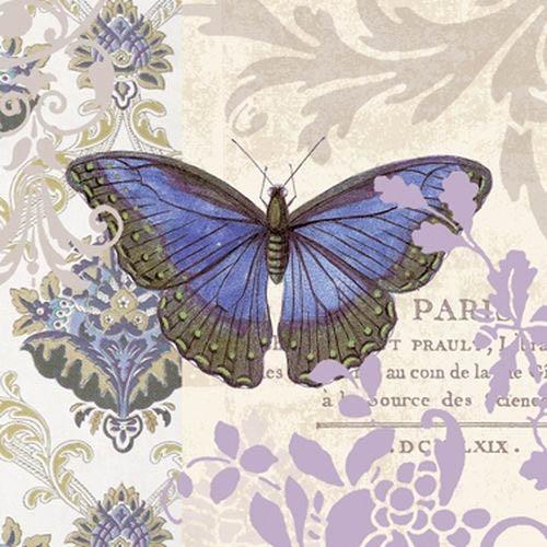 салфетки для декупажа Винтажная бабочка, купить