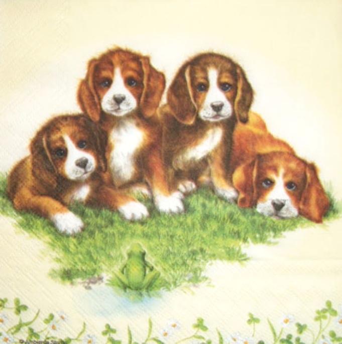 салфетки для декупажа Собаки, купить