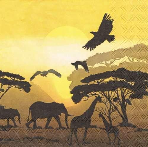 салфетки для декупажа Сафари в Африке, купить