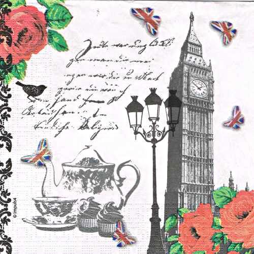 салфетка бумажная для декупажа Английский чай