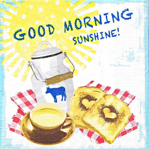 салфетка бумажная для декупажа Завтрак