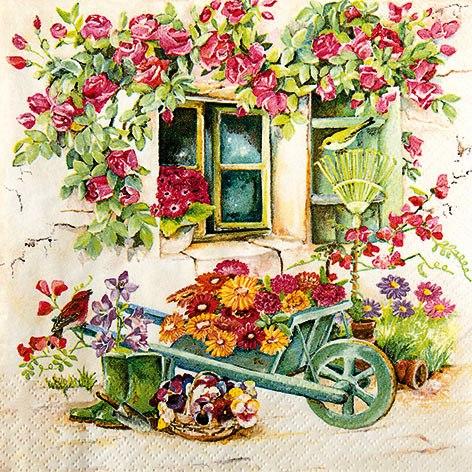 салфетка для декупажа Сад на заднем дворе