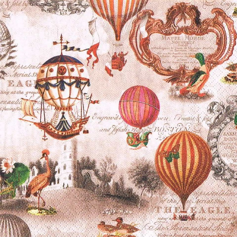 салфетка бумажная для декупажа Воздушные шары