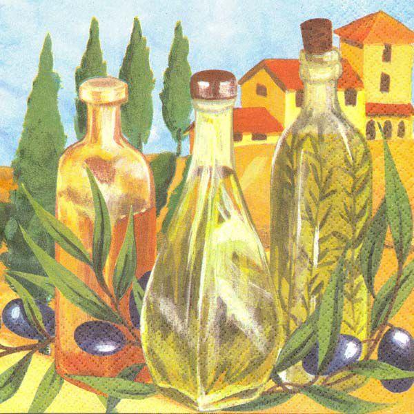 салфетки для декупажа Оливковое масло, купить