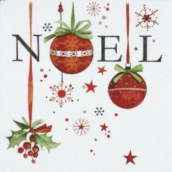 Салфетки для декупажа новогодние, купить, Ноэль, шары, елочные игрушки - магазин АртДекупаж