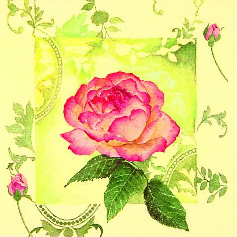 Декупажные салфетки роза, цветы, орнамент, купить