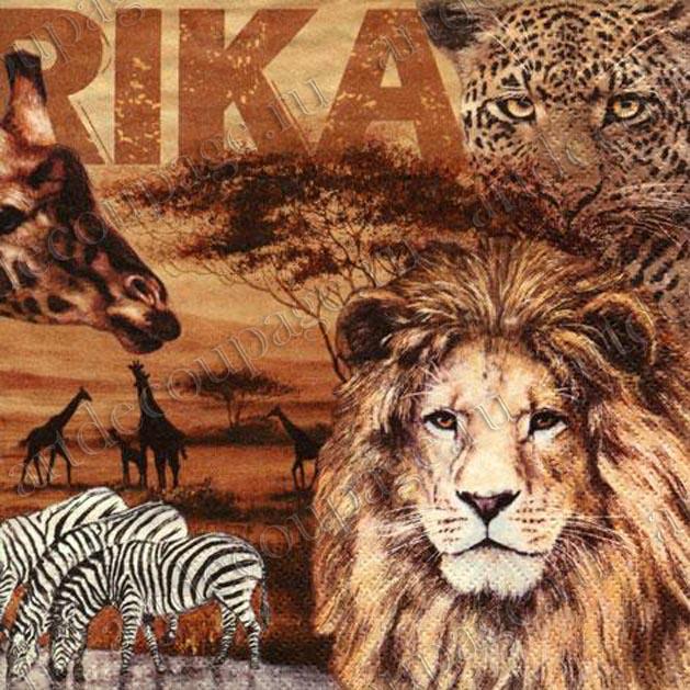 Салфетки для декупажа африка, африканские животные, купить