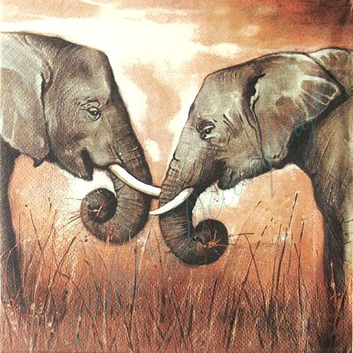 Салфетки для декупажа африка, слоны, африканские животные, купить