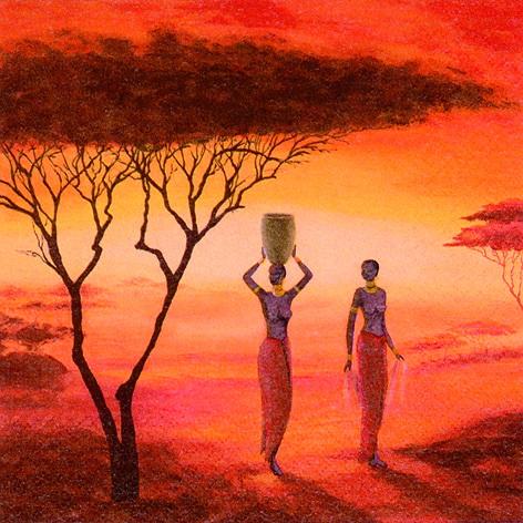 Салфетки для декупажа африка, африканские женщины, АртДекупаж