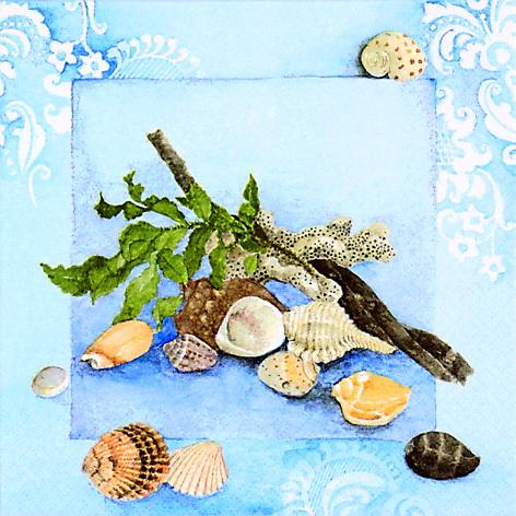 Декупажные салфетки Морские раковины, купить