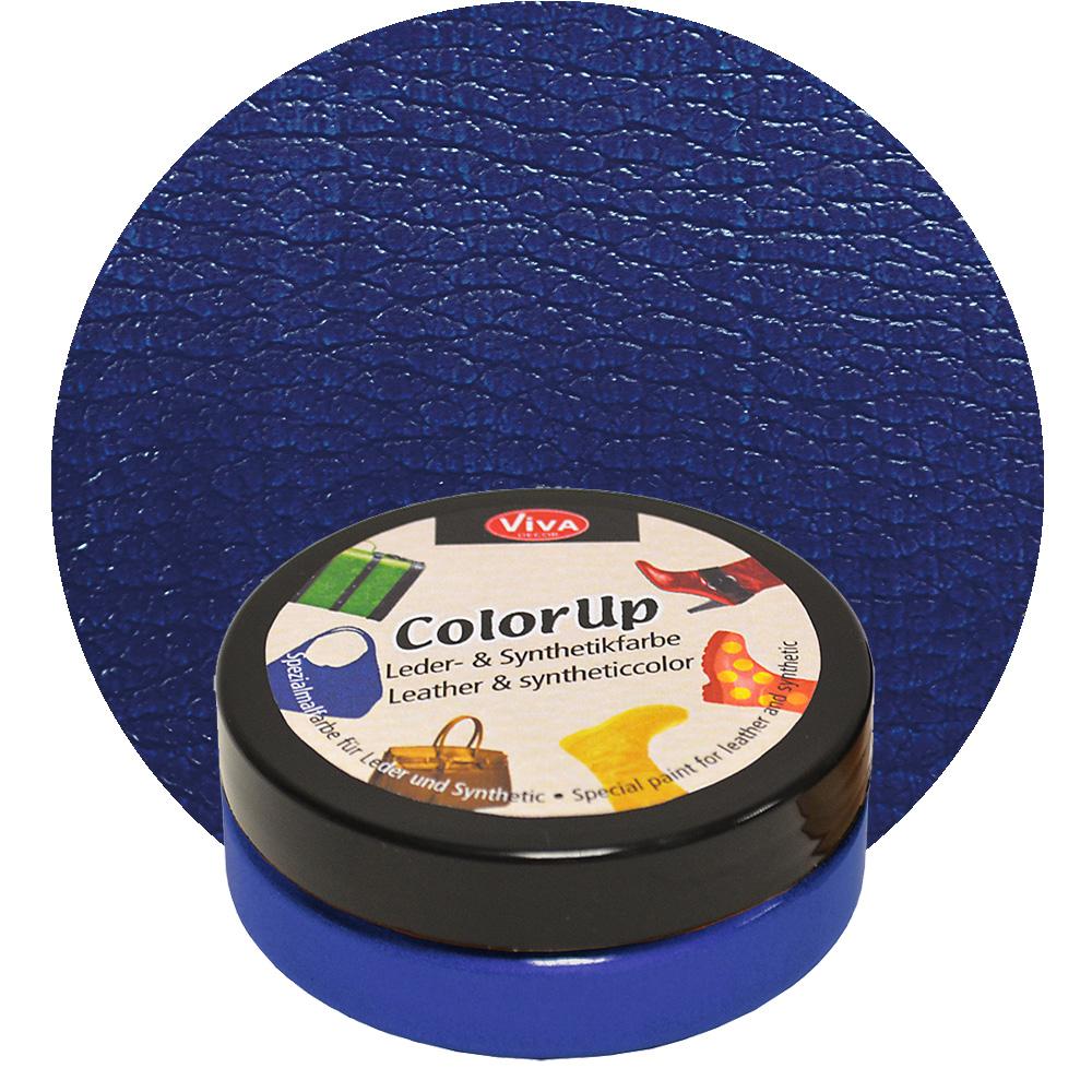 Краска для кожи и синтетики Color up Темно синий