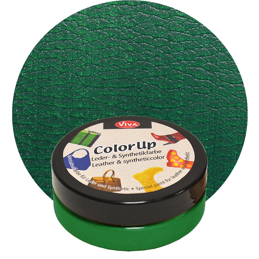 Краска для кожи и синтетики Color up Зеленый