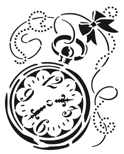 Трафарет для рисования Часы, завитки, узоры, Viva Decor, купить, магазин АртДекупаж