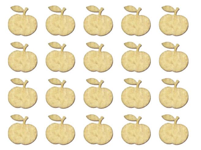 Деревянные плоские фигурки Яблоки, лазерные вырубки
