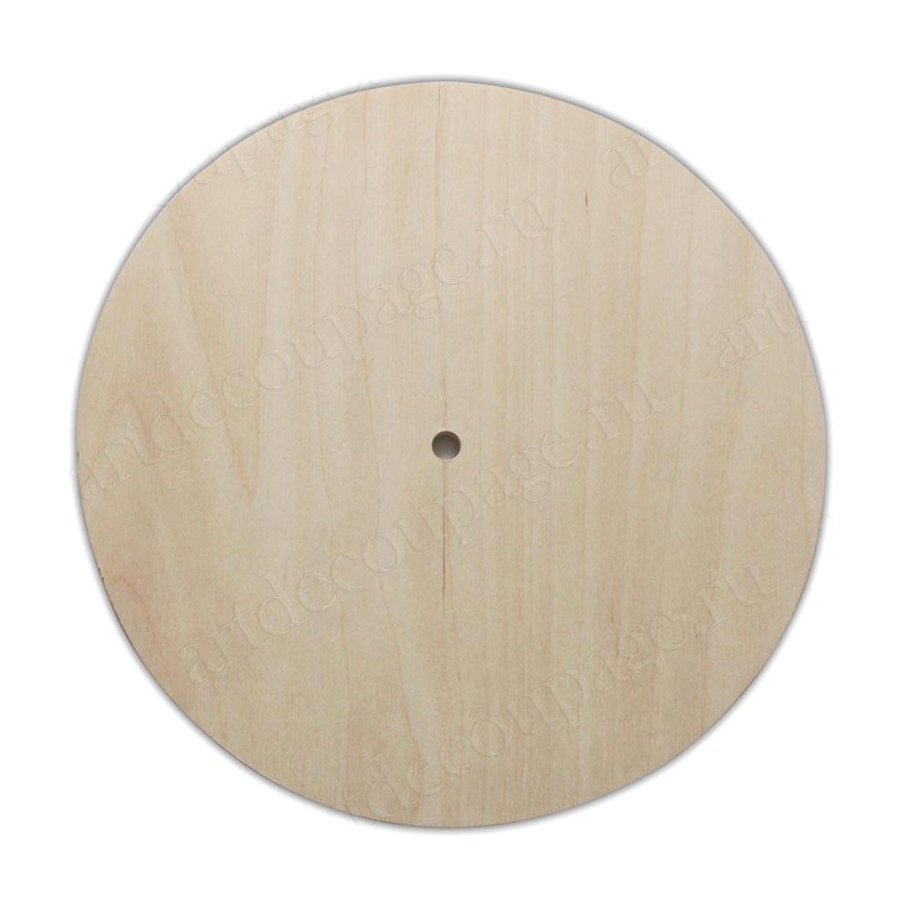 Заготовка для настенных часов круглая из фанеры 20 см, купить