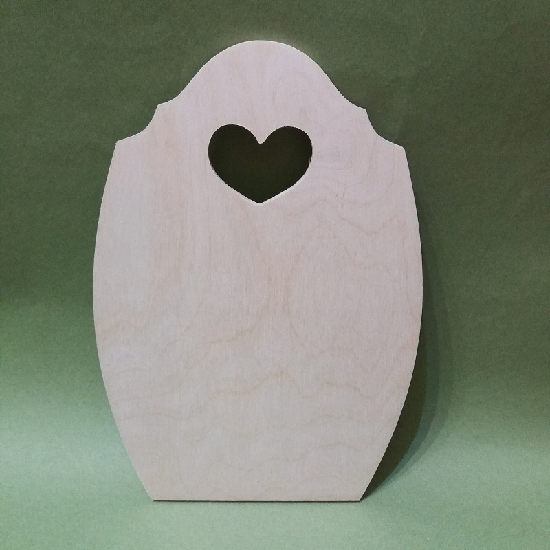 Заготовки для декупажа доска разделочная с сердечком