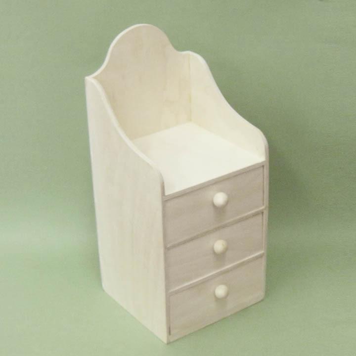 Заготовки деревянные  для декупажа комодик 3 ящика