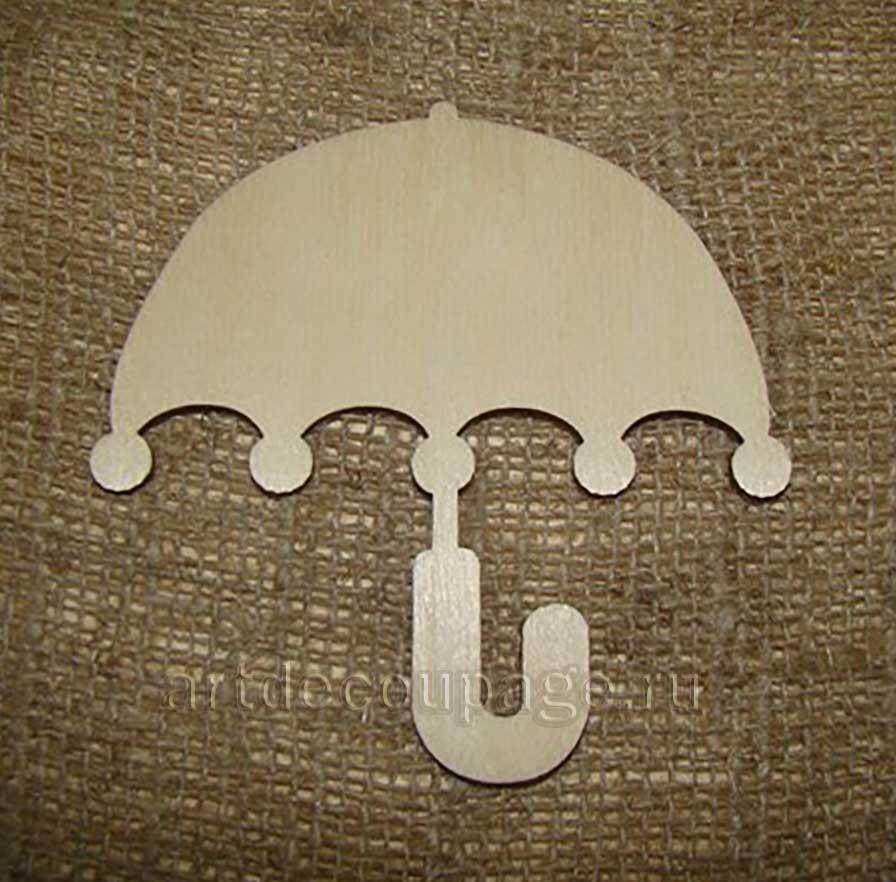 Заготовка деревянная фигурка Зонтик