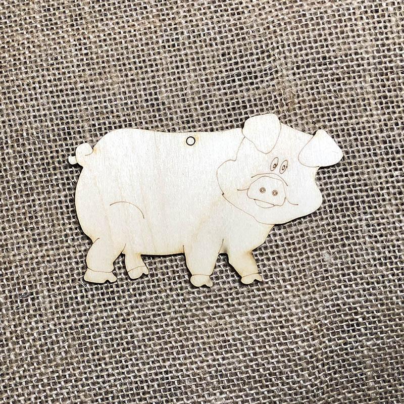 Новогодняя заготовка плоская фигурка Свинья
