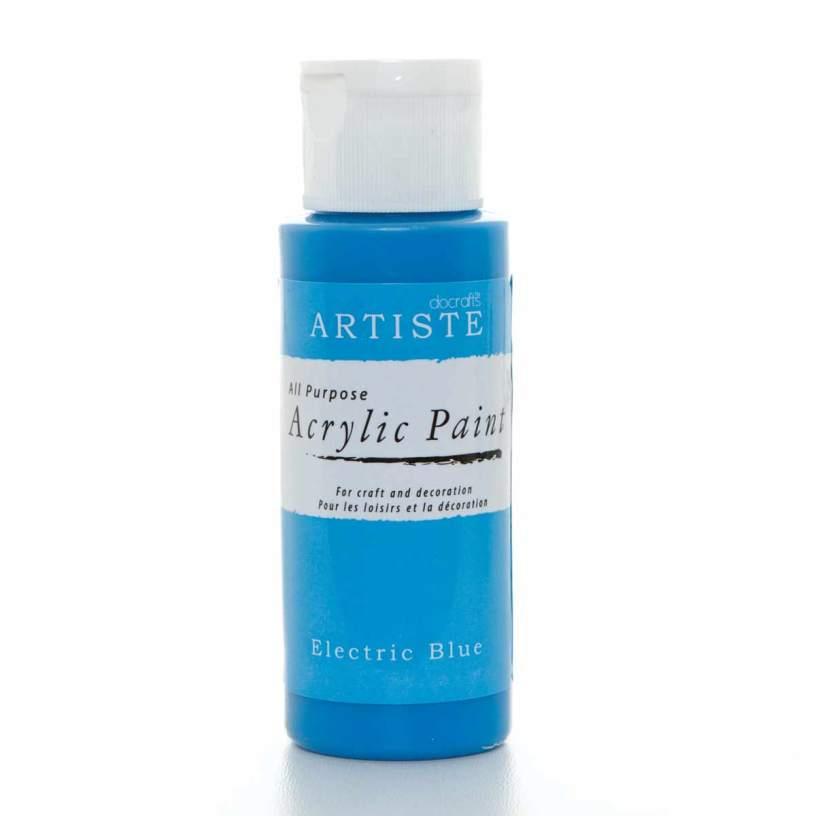 Краски акриловые художественные для декупажа Artiste цвет ярко-голубой