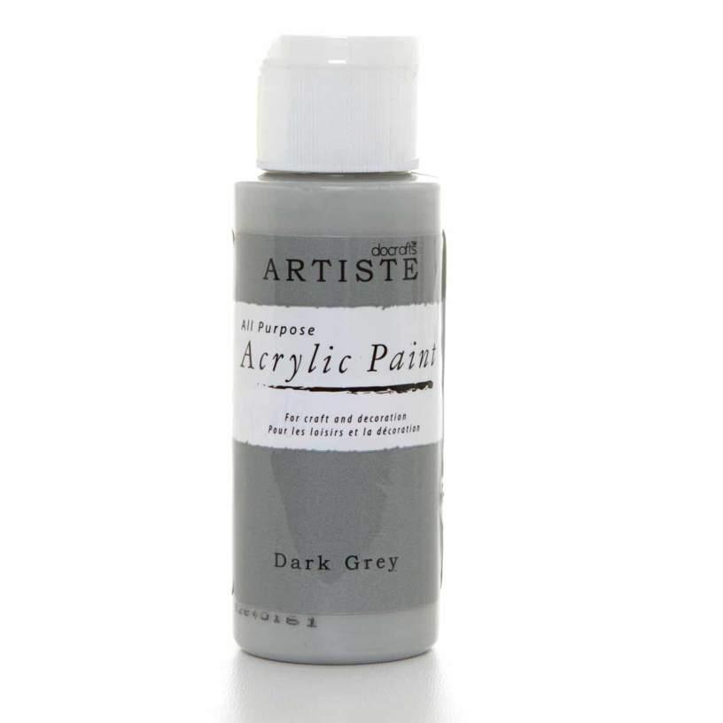 Краска акриловая художественная на водной основе Темно-серая Artiste, Англия