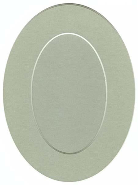 Декоративные рамки паспарту овальные, бежево-серый - АртДекупаж