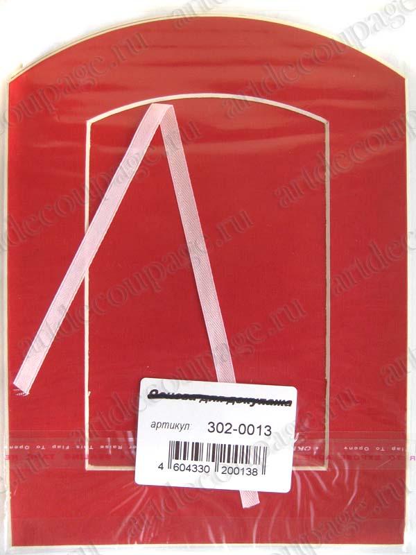 Декоративные рамки паспарту арка, красный картон - АртДекупаж