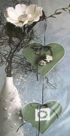 Декоративные рамки паспарту, синий картон, форма сердце купить Артдекупаж