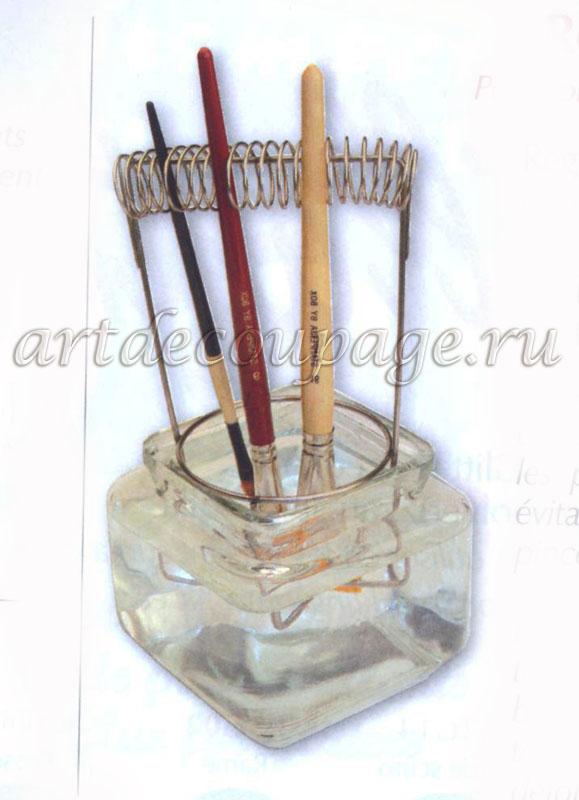 Подставка для кистей металлическая кистемойка
