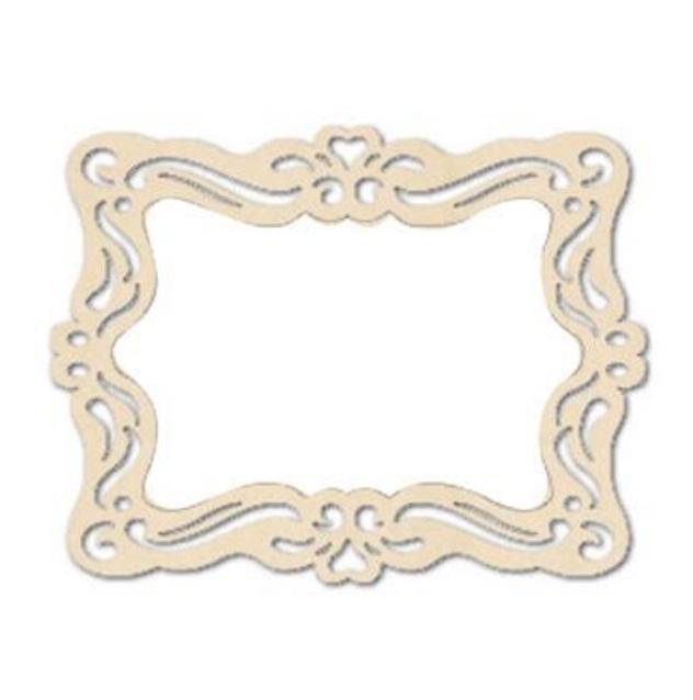 Ажурные плоские мини рамочки для декора