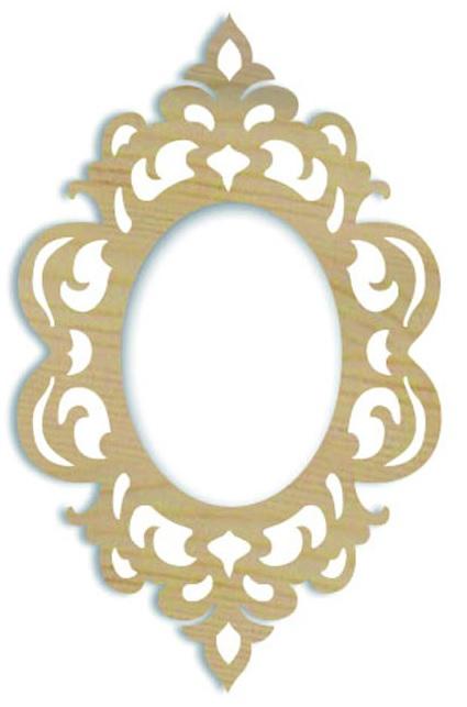 Ажурная плоская рамочка, накладной декоративный элемент