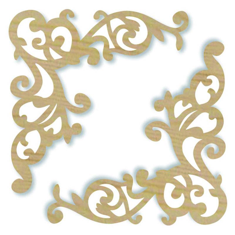 Ажурные уголки, декоративные накладки Stamperia KLS232