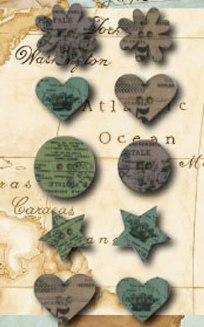 Декоративные деревянные пуговицы цветы, звездочки, сердца, купить - магазин Арт Декупаж