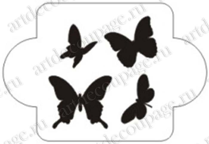 Трафарет бабочки маленькие, трафареты для росписи, Event Design, купить