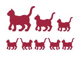 Трафареты для росписи Кошки