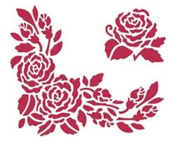 Трафареты цветов для росписи, купить - магазин АртДекупаж