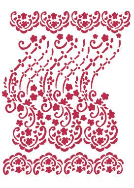 трафарет для декупажа Цветочное кружево, декоративные трафареты