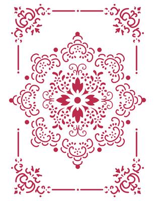 трафарет для декора Кружевная салфетка в рамочке