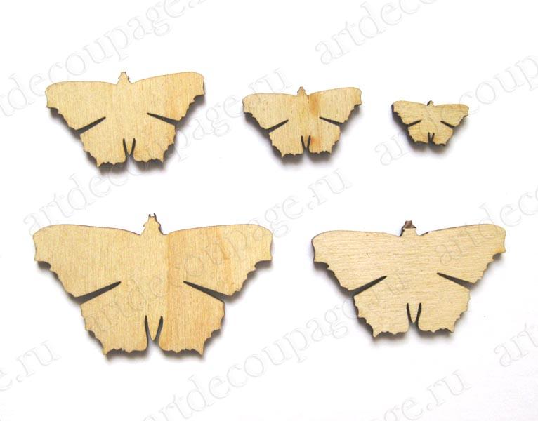 Декоративные накладки из дерева, Бабочки, заготовки для декупажа, купить