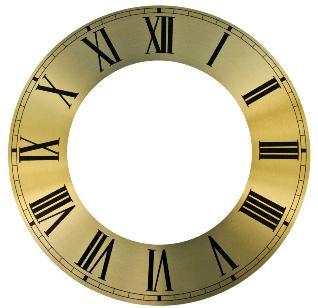 Циферблат для часов металлический, римские цифры