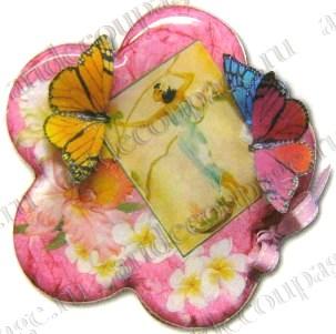 Заготовки для декупажа, шкатулка Цветок, прозрачный пластик - магазин АртДекупаж